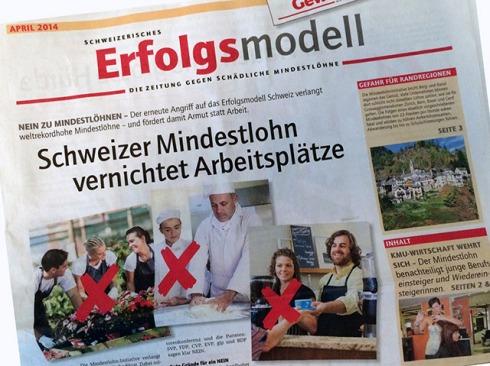 Schweizer Erfolgsmodell nicht gefährden: Die Abstimmungszeitung gegen den schädlichen Mindestlohn ist jetzt online!