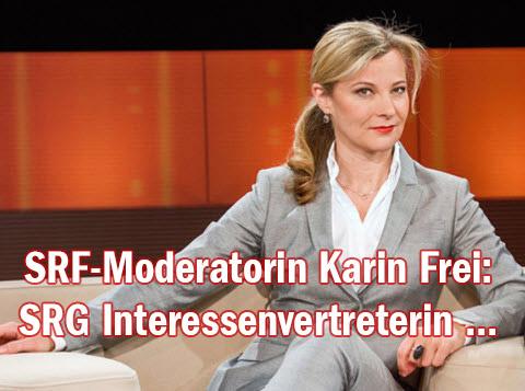 SRF-Moderatorin Karin Frei: SRG-Interessenvertreterin