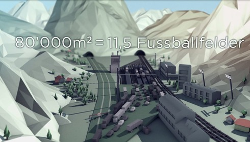 Sanierung Gotthard-Strassentunnel: Vier bis sechs Verladeanlagen erzeugen einen gigantischen Landverschleiss und vernichten wertvolles Kulturland, das in den Alpentälern sowieso rar ist.