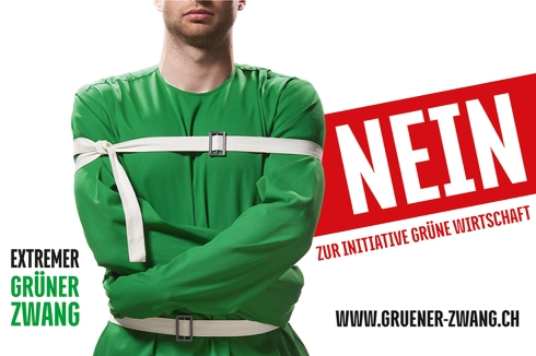 """Nein zur Initiative """"Grüne Wirtschaft"""": Ein extremer grüner Zwang, der die KMU-Wirtschaft schädigt und Bürgerinnen und Bürger bevormundet"""