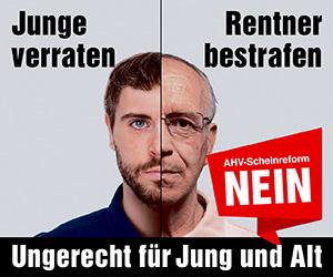 Am 24. September: NEIN zur ungerechten AHV-Scheinreform!