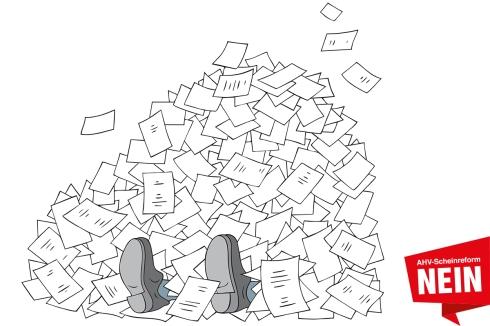 Anstatt zu sanieren, schafft die ungerechte AHV-Reform einen Berg an bürokratischem Mehraufwand.